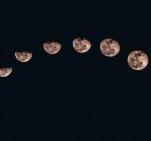 fazy księżyca - wykres