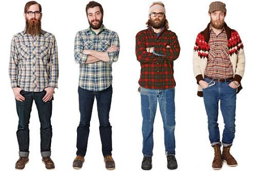 hipsterzy z brodami