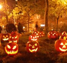 dekoracje z dynie na Halloween